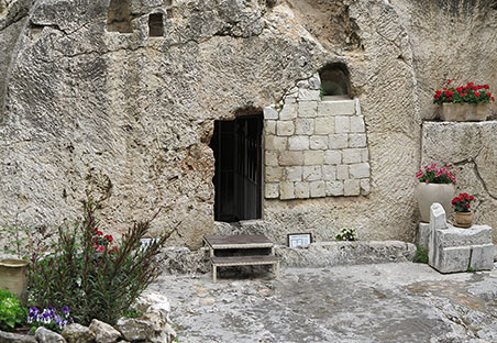 The Garden Tomb in Jerusalem—possible site of Jesus' burial